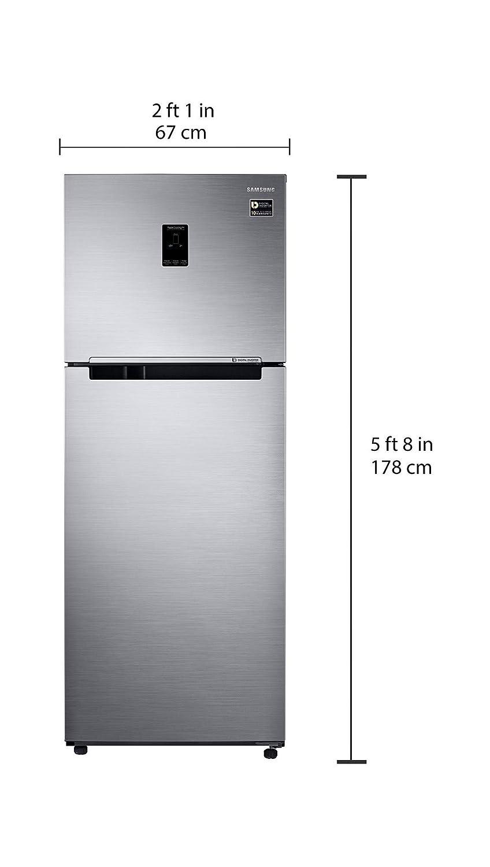 Samsung 415 L 4 Star Inverter Frost Free Double Door  Refrigerator(RT42M553ES8/TL, Elegant Inox, Convertible)