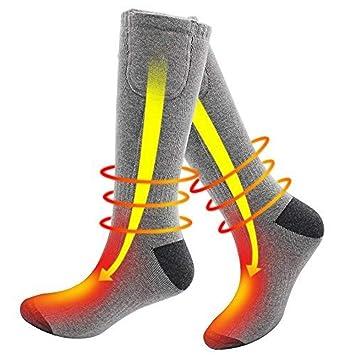 DZX Calcetines Térmicos Eléctricos/Calcetines Térmicos Cómodos, Alimentados por Batería - para Deportes De