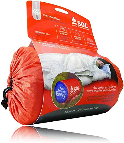 Lot of 2 ADVENTURE MEDICAL Orange SOL 1 Person Emergency BIVVY Blanket Kit New
