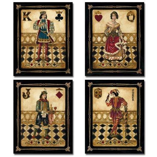 WallsThatSpeak 4 Harlequin Playing Card Poker Joker Jack Queen King Gregory G