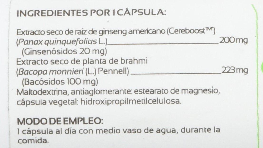 Anastore Ginseng Cereboost y Bacopa Monnieri 423 mg - 60 Cápsulas: Amazon.es: Salud y cuidado personal