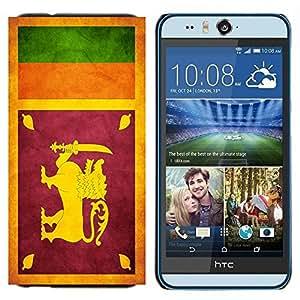 TECHCASE---Cubierta de la caja de protección para la piel dura ** HTC Desire Eye ( M910x ) ** --Nación Bandera Nacional País Sri Lanka