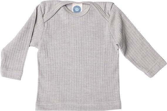 Cosilana - Camisa de manga larga para bebé, 45% algodón, 35% lana kbT, 20% seda: Amazon.es: Ropa y accesorios