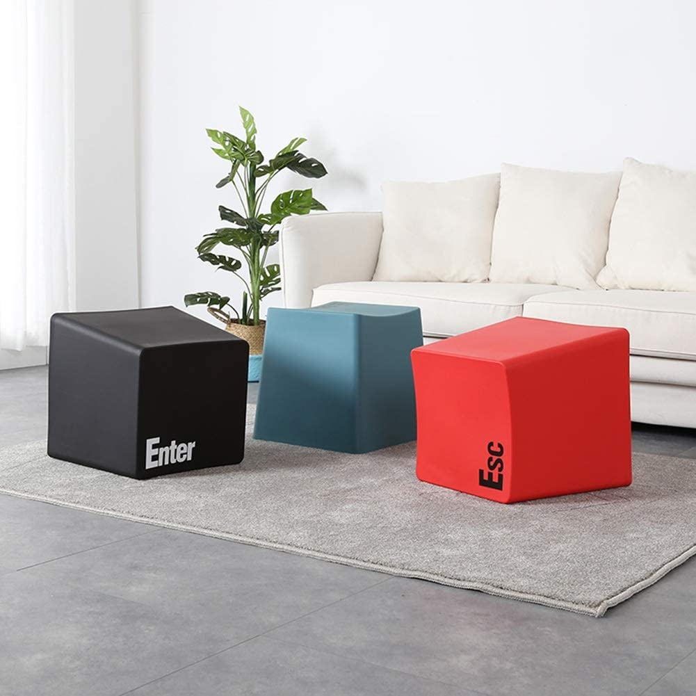 Color : Black, Size : 343439cm ZHAOYONGLI Keyboard Small Stool Household Sofa Stool Creative Small Bench Living Room Bedroom Simple Creative Solid Durable Long Lasting
