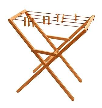 Wäscheständer Holz amazon de erst holz 932 2332 drewart wäscheständer aus holz erle