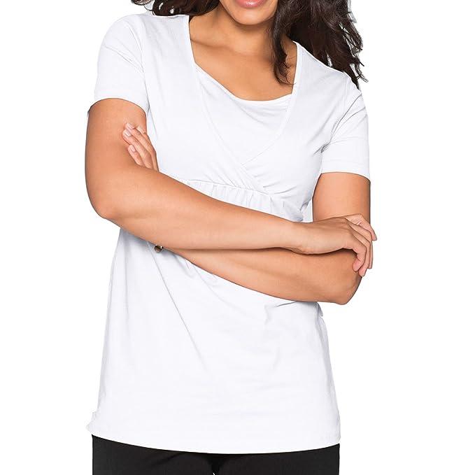 WEIMEITE Nueva Verano Mujeres Embarazadas Maternidad Enfermería Camisetas Lactancia Materna Ropa para Mujeres Embarazadas Camisetas de