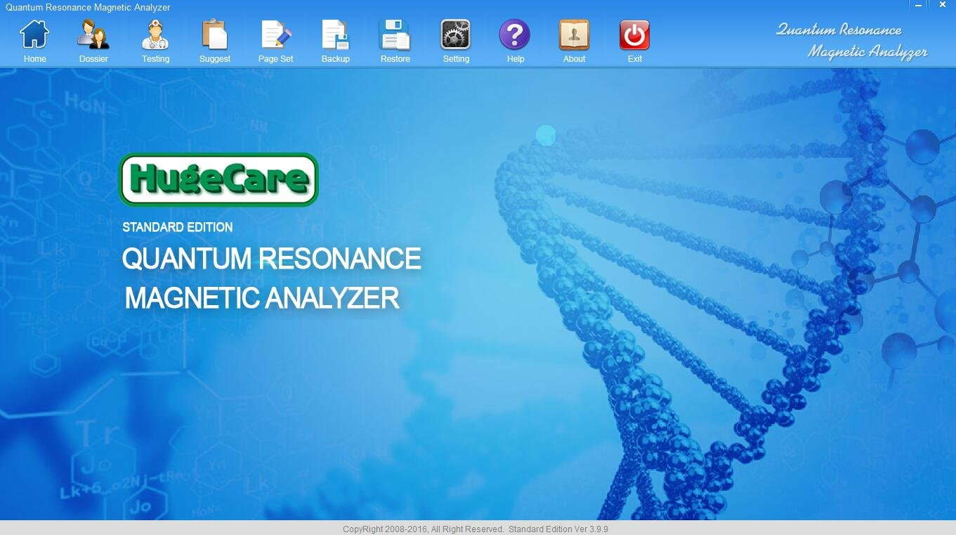 Quantum Bio Resonance Analyzer Vendido Por HUGECARE 2017 Gray Model Metal Box Faster Usefull 41 Reports Version Dual Version Software Q10