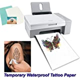 Temporary Tattoo Paper A4 Size (8.3x11.7 inch) 5 Sheets DIY Tattoo Paper Transfer Decal Paper for Inkjet Printer
