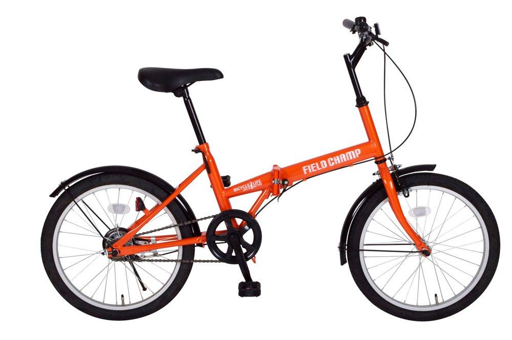 FIELD CHAMP (フィールドチャンプ) 20インチ 折畳自転車 オレンジ B07D7LFCRW