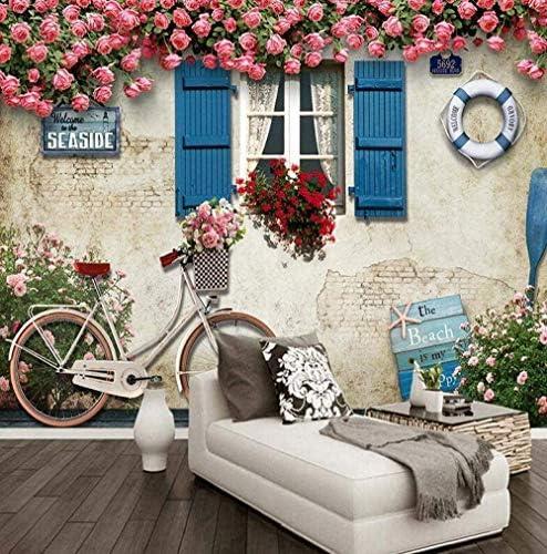 Hxcok 壁紙3d不織布シルク布カスタム壁画壁紙地中海スタイルの建物写真ポスター背景写真壁紙用リビングルームレストラン-200x140CM