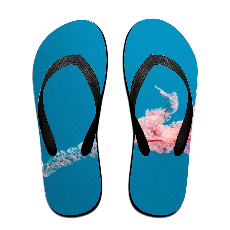 Qilrocm Unisex Beach Flip Flops Cute Polar Bear Non-Slip Sandal Summer Outdoor Flip Flops