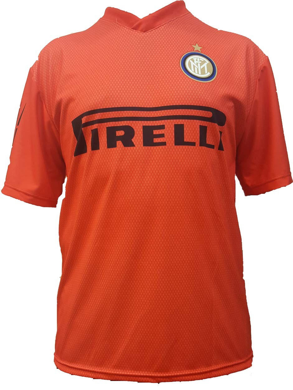 -Camiseta Jersey Futbol Inter F.C Samir Handanovic Replica Oficial Autorizado 2018-2019 Niños (2,4,6,8,10,12 año) Adultos (Small, Medium, Large, ...