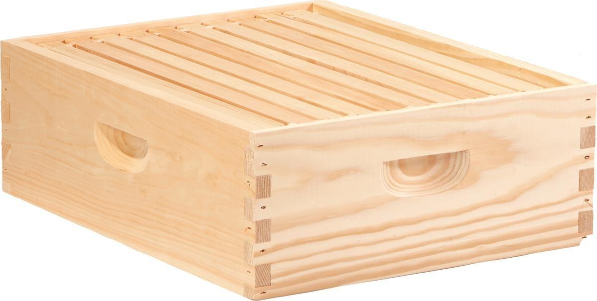 Little Giant Farm & Ag MEDBOX10 Honey Super Hive Frame (10 Pack), Medium
