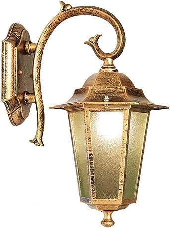 Luces de Jardín Al Aire Libre a Prueba de Agua Montado en La Pared Clásico Apliques Vintage Red Alimentada E27 Aplique de Aluminio para Pasillo Pared Exterior Iluminación de Seguridad: Amazon.es: Iluminación
