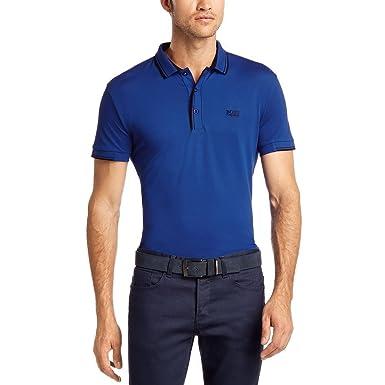 6c3ff7182 Amazon.com: 'Paule' | Slim Fit, Stretch Cotton-blend Polo Shirt By ...