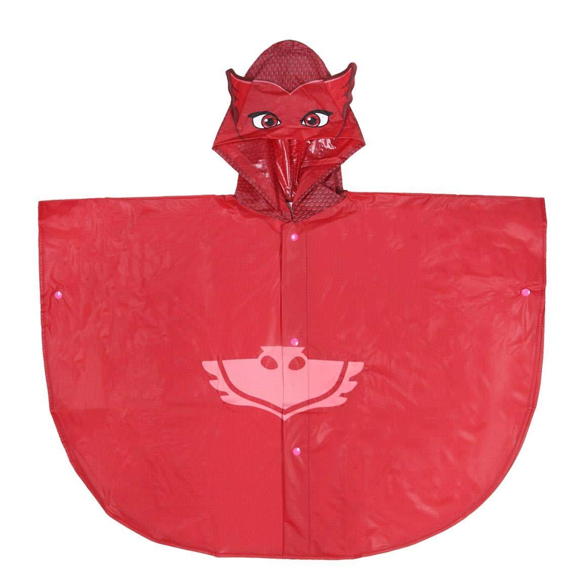 PJ Masks Superpigiamini Poncho da Pioggia Impermeabile con Cappuccio Prodotto Originale 55220JP