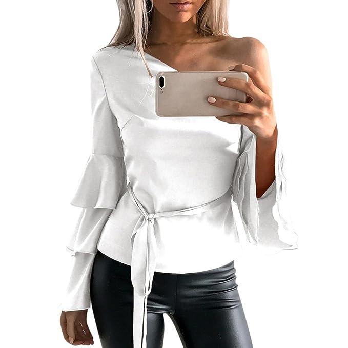 Blusa Mujer, ❤️Ba Zha Hei Camiseta de Verano del cordón del Ganchillo de de