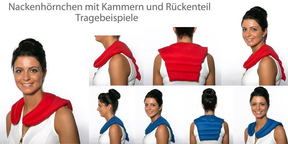Rapssamenkissen Nackenh/örnchen mit R/ückenteil Nackenkissen R/ücken W/ärmekissen gr/ün-wei/ß