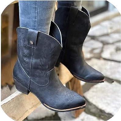 Amazon.com | Women Leather Cowboy Boots