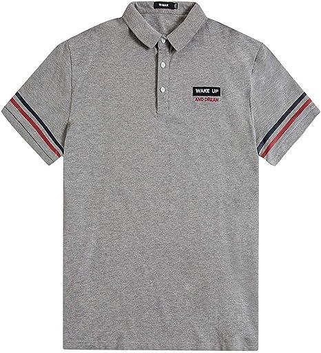 Camisa Polo Grande y Alta para Hombre Camiseta de Verano de Gran ...