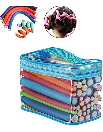 Pinkiou Barras de rizado flexibles Rodillo rizador de pelo de espuma Varillas de flexión giratoria Juego