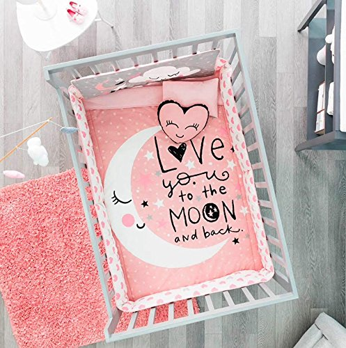 Limited Edition Moon and Stars Crib Bedding Set Nursery for Baby Shower Gift 6 PCS
