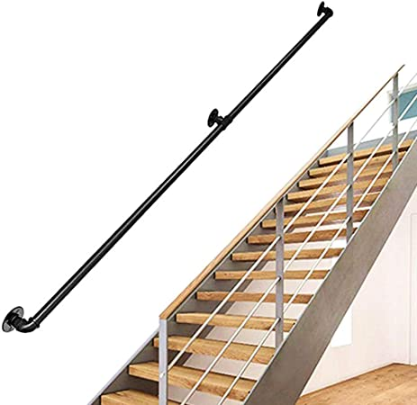 GOHHK Barandilla Escalera Tubo, Viento Industrial Corredor Interior Pared áTico Old Man Valla Antideslizante para Barandilla Tubo, Longitud: 25cm-300cm Opcional: Amazon.es: Hogar