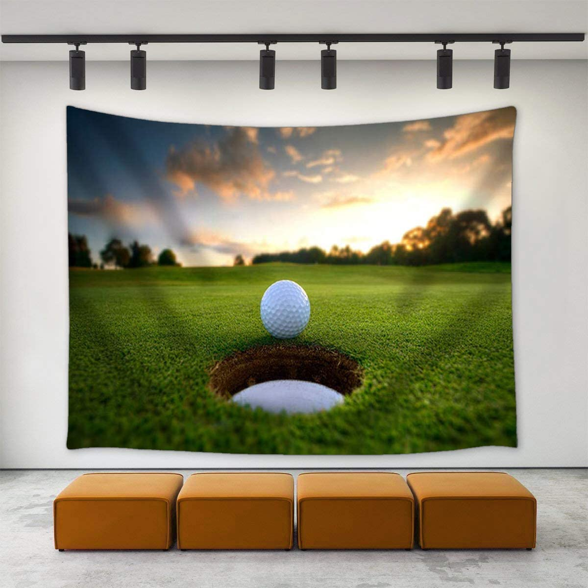Amazon.com JAWO Golf Course Decor Tapestry, Golf Ball Parked at ...