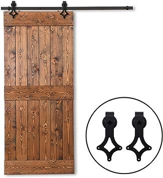 457CM/15FT Herraje para Puertas Corredizas Interiores Deslizante Puerta de Granero Corredera de Madera Sliding door hardware: Amazon.es: Bricolaje y herramientas