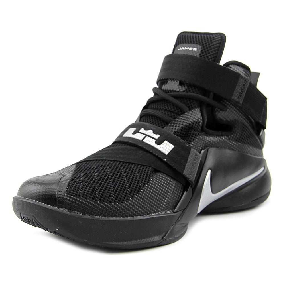 Nike Men's Lebron Soldier IX Basketball Shoe B011ANJSHQ 9.5 D(M) US Black/Metallic Silver