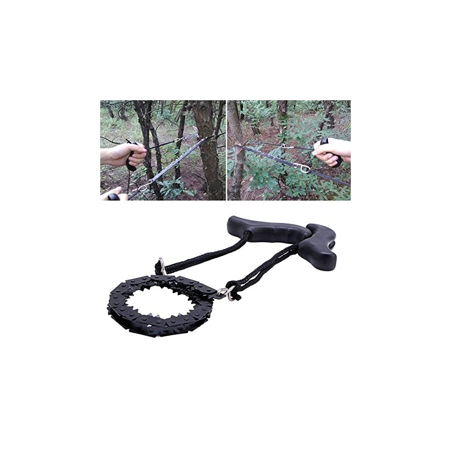 Doingart Chain Saw Portable Folding Pocket Survival Hand Chain Pocket Chain Saw Tool 39.7 Inches Long