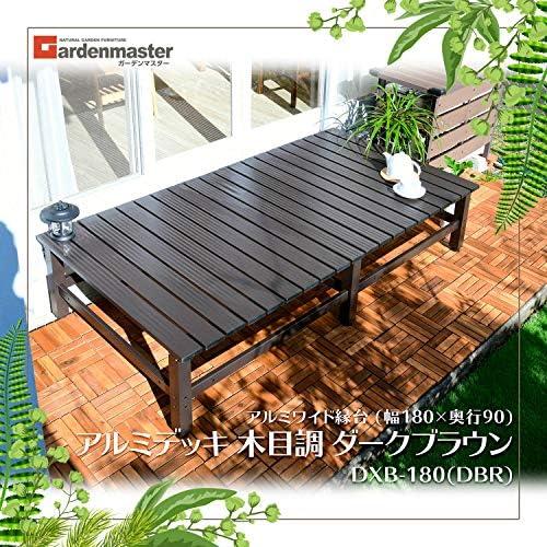 [スポンサー プロダクト]山善(YAMAZEN) ガーデンマスター アルミワイド縁台 (幅180×奥行90) アルミデッキ グレー DXB-180(GY)