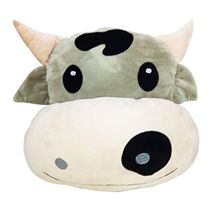 Buy COW   WEP Pink Poop Emoji Pillow Queen Princess Lady Nerd Smiley  Unicorn Emoticon Pig Cushion Dog Stuffed Bunny Rabbit Soft Plush Toy (COW)  Online at ... a878488b6