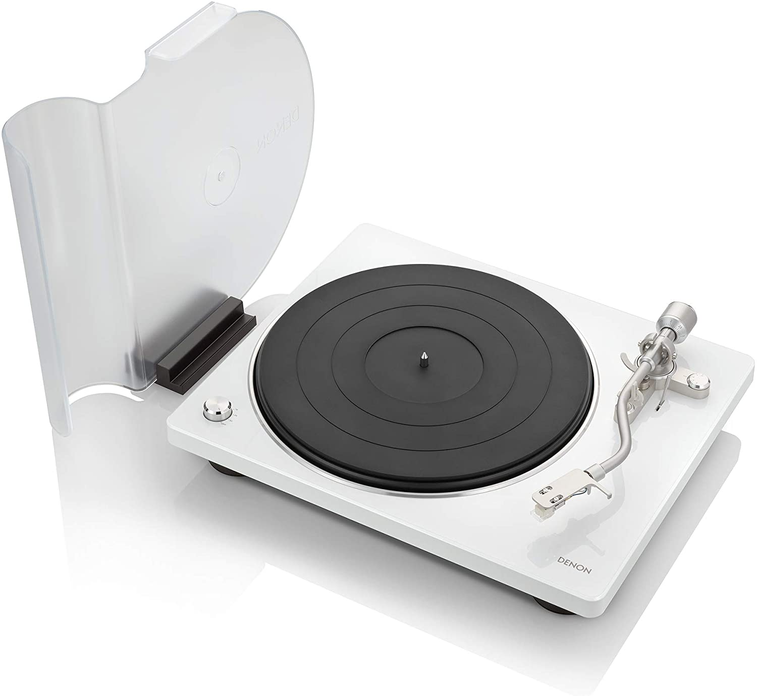 Amazon.com: Denon DP-400 (White) Semi-Automatic Analog Turntable with Speed  Auto Sensor | Specially Designed Curved Tonearm | Supports 33 1/3. 45, 78  RPM (Vintage) Speeds | Modern Looks, Superior Audio: Electronics