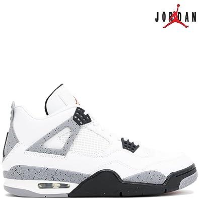 Nike Air Jordan 4 Retro IV WHITE CEMENT 308497-103 White/Fire Red/Black/Tech Grey - Air Jordan 100% authentique fOp45LV4