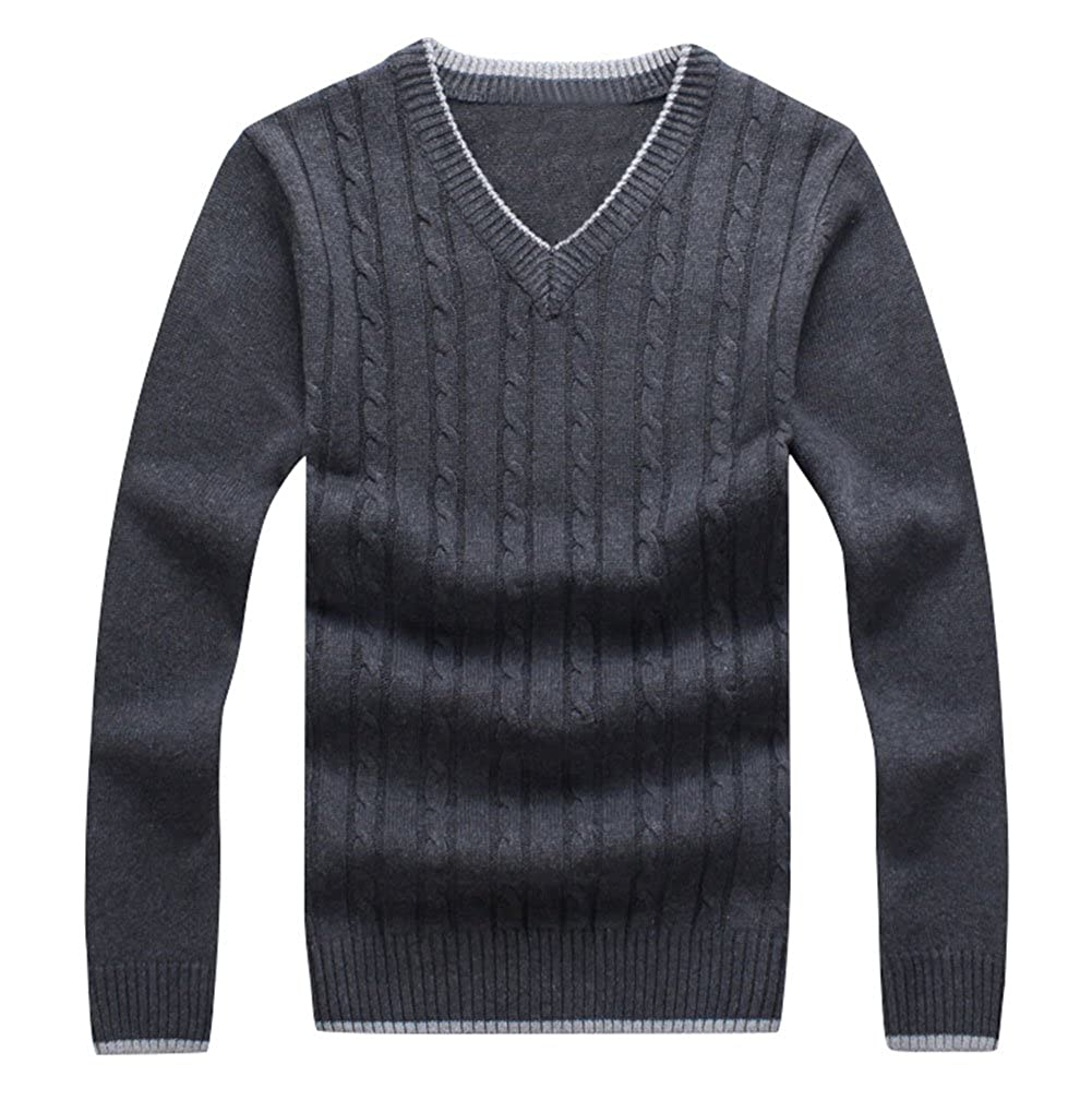 Mens Perfect Slim Fit V-Neck Sweater