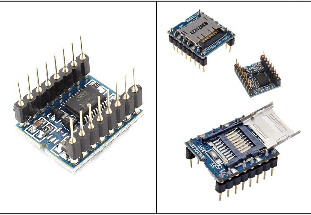 Ximimark 2Pcs WTV020-SD-16P Mini SD Card Voice Module MP3 Sound Module U-Disk Audio Player