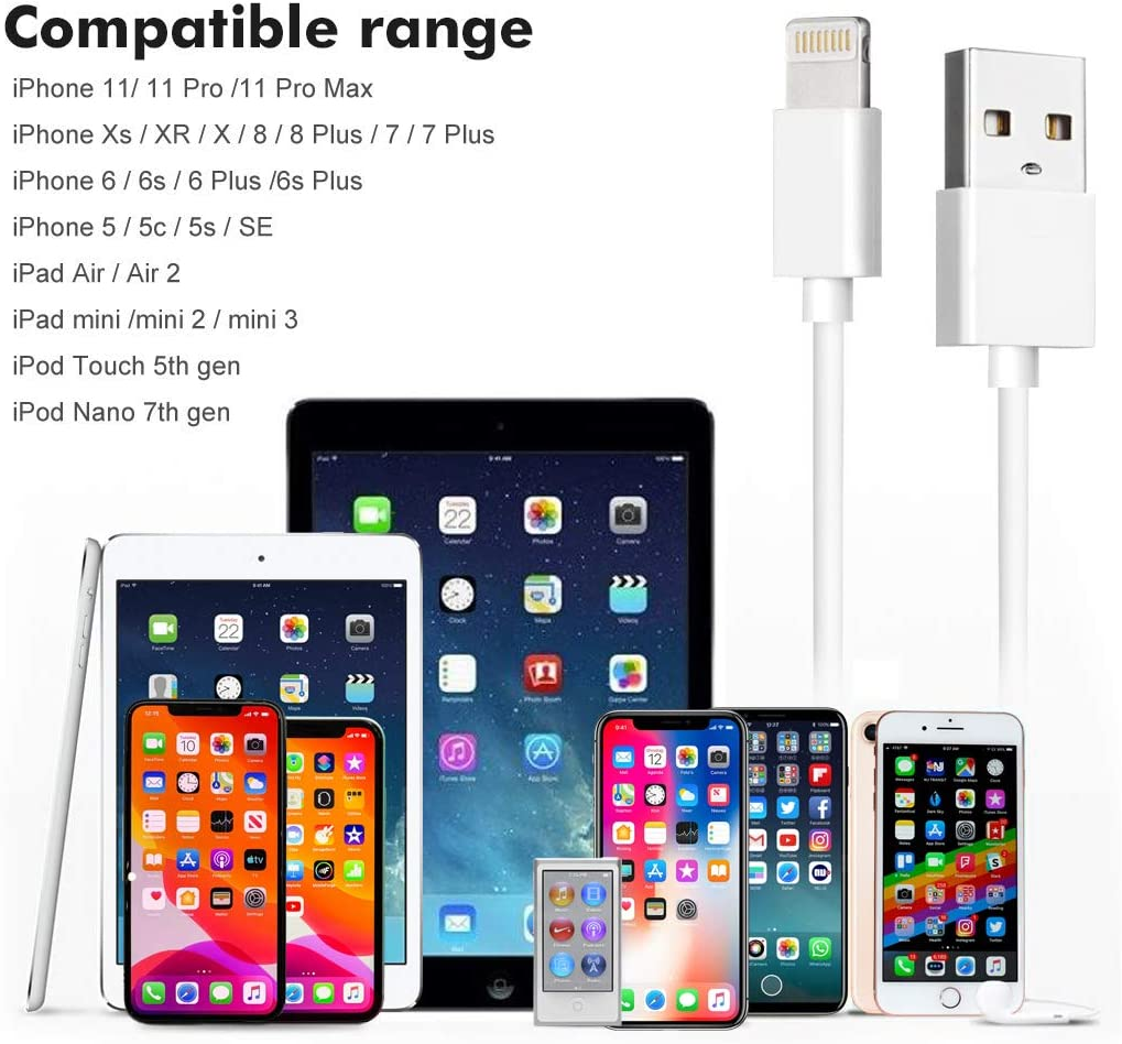 8 Fenergy Short Apple Lightning To USB Cable 7 Inch Charging Cord For IPhone X