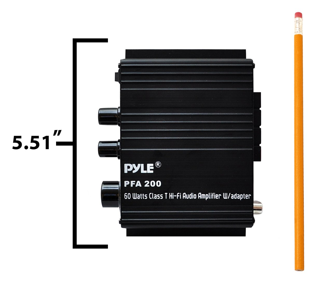 Pyle Home Mini Audio Amplifier 60w Portable Dual Uniton 50 60 Watt Head Wiring Diagram Channel Surround Sound Hifi Stereo Receiver W 12v Ac Adapter Aux Mic In Supports Smart