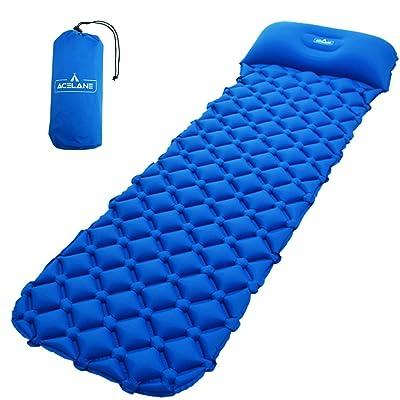 Acelane Matelas Autogonflants Coussin camp air gonflable léger dormer matelas avec oreiller compact pour camping randonnée