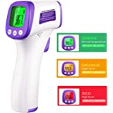 Thermometer, Non-Contact Infrared Thermometer for Adults and Children, ˚C/˚F Adjustable- Fever Alert Function, for Body, Surface and Room, for Medical Hospital USE