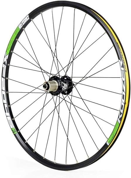 Rueda Trasera Bicicleta 26/27.5 Pulgadas Ruedas MTB Pared Doble Llanta MTB Racing QR Disco Freno 32H 8 9 10 11 Velocidad,Green-27.5inch: Amazon.es: Hogar