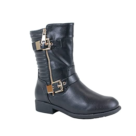Amazon.com   Reneeze LIBBY-01 Womens Fashionable Combat Boots with ... : quilt boots - Adamdwight.com