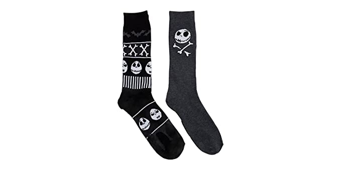 nightmare before christmas 2 pk crew socks