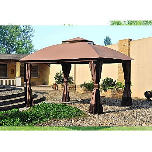 (Sunjoy Replacement Canopy Set for 11x13ft South Hampton Gazebo)