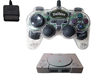 Claro Controlador de juego Gamepad Dualshock Turbo, Lento para Sony Playstation1 PS1 consola Dashine