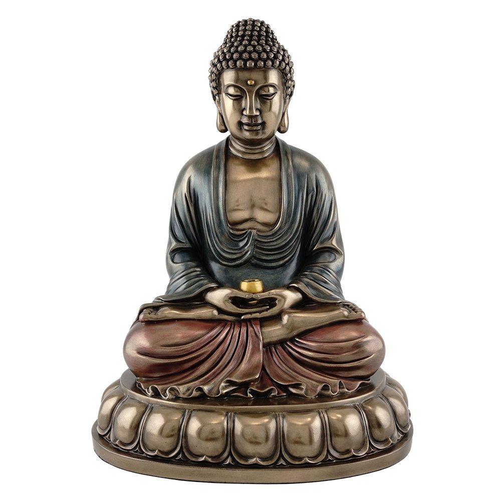 10.5-inch Sitting Shakyamuni Buddha (Supreme Buddha) Real Bronze Powder Cast Statue Figurine by King Tut's Secret
