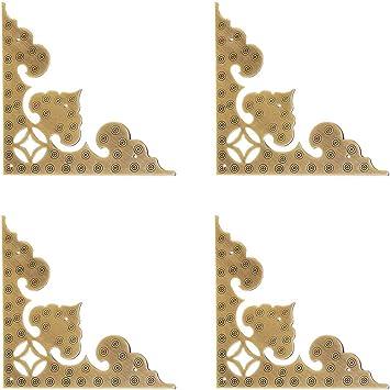 4Pcs Bumper Guard Edge Corner Protectors Decorative For Wood Jewelry Gift Box