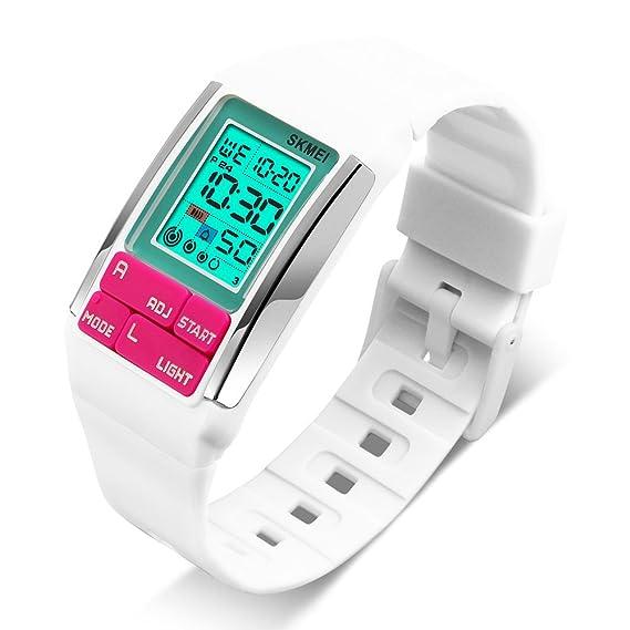 Relojes para niños Niña Deportes Digital Impermeable Reloj de pulsera con alarma para niño: Amazon.es: Relojes