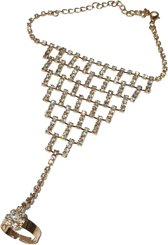 Ladies Tri Colour Silver Snake Chain Hearts Design Diamante Necklace NEW